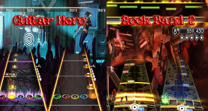 Guitar Hero Vs Rock Band 2
